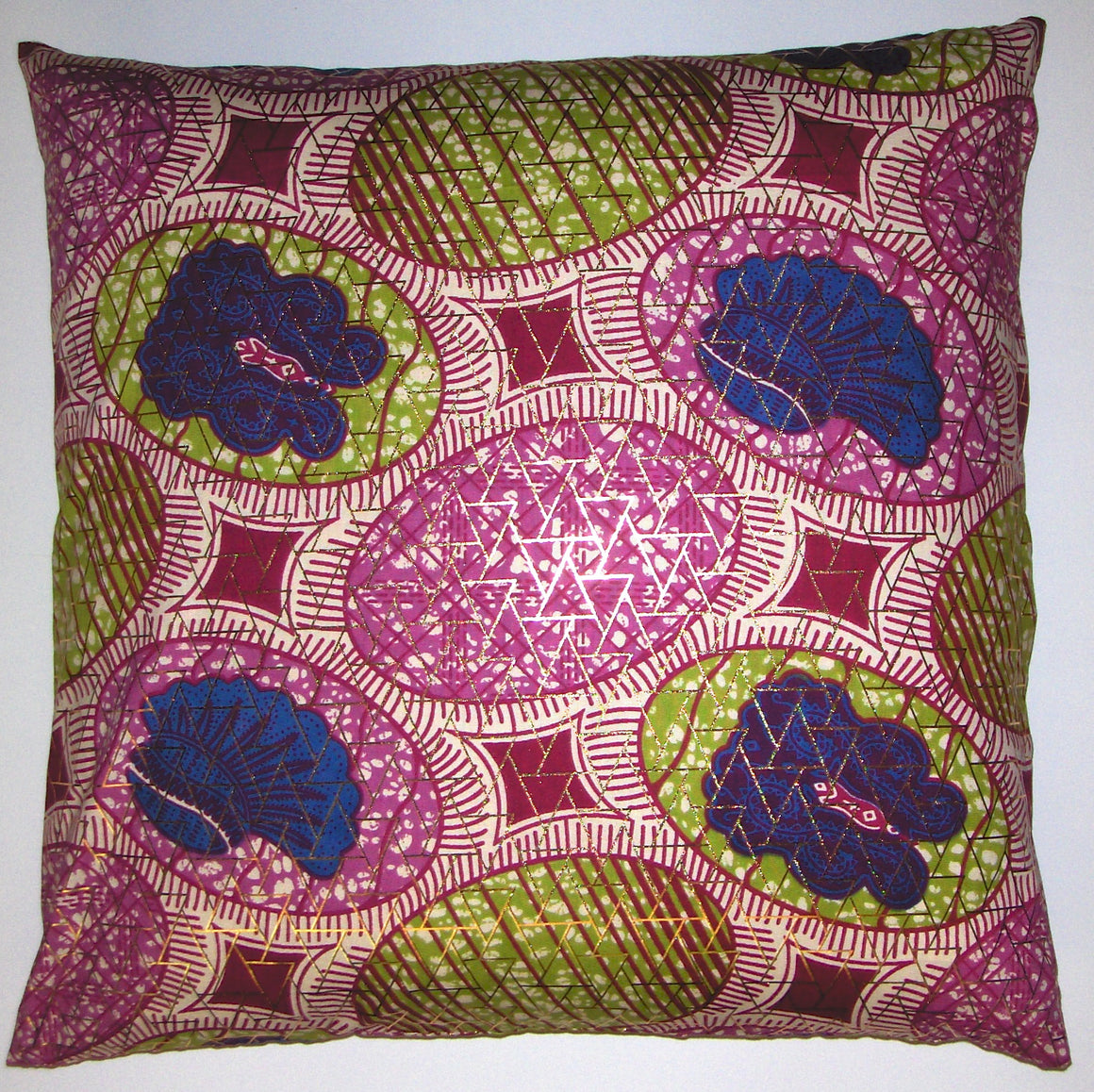 DW15 Dutch wax printed cotton pillow cover
