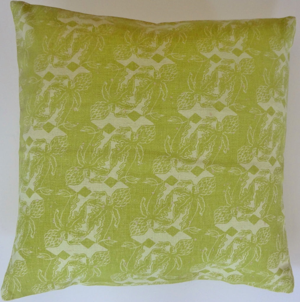 HMP1 Hemp/linen hand stamped pillow cover