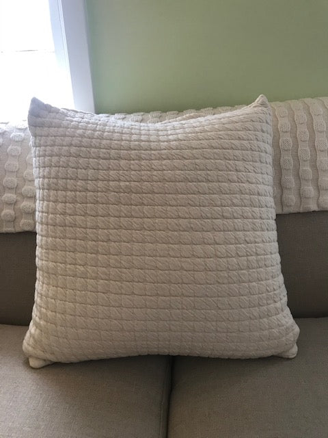 "Scituate seersucker 22"" snuggly pillow"