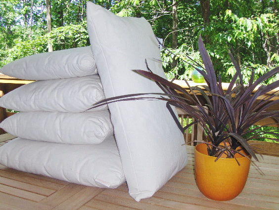 Organic Cotton and Kapok Decorative Pillow Inserts