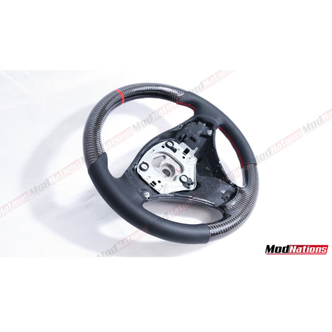 BMW 1 SERIES 3 SERIES E81 E82 E87 E88 E90 E91 E92 E93 CARBON FIBRE STEERING WHEEL