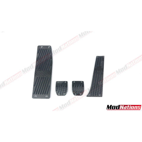 BMW E46/E81/E87/E90/E91/E92/E93 CARBON FIBRE PEDALS + FOOTREST (MANUAL)