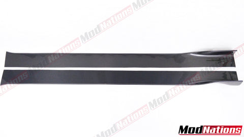 UNIVERSAL CARBON FIBRE SIDE SKIRT EXTENSIONS WITH WINGLETS