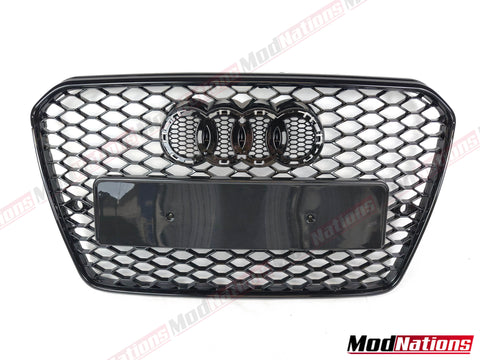 AUDI A5 S5 B8 8T/8T8/8F RS5 STYLE HONEYCOMB GLOSS BLACK GRILLE (2007 - 2016)
