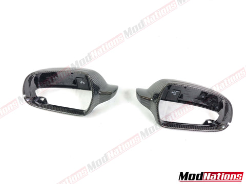AUDI A4 A5 S4 S5 RS4 RS5 CARBON FIBRE MIRROR REPLACEMENT
