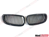 BMW 3 SERIES E92 E93 PRE LCI CARBON FIBRE FRONT GRILLES (SINGLE SLAT)