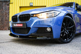 bmw-3-series-f30-f31-gloss-black-front-grilles-dual-slat-on-car