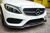 mercedes-c-class-amg-line-a205-c205-brabus-style-carbon-fibre-front-lip-on-car