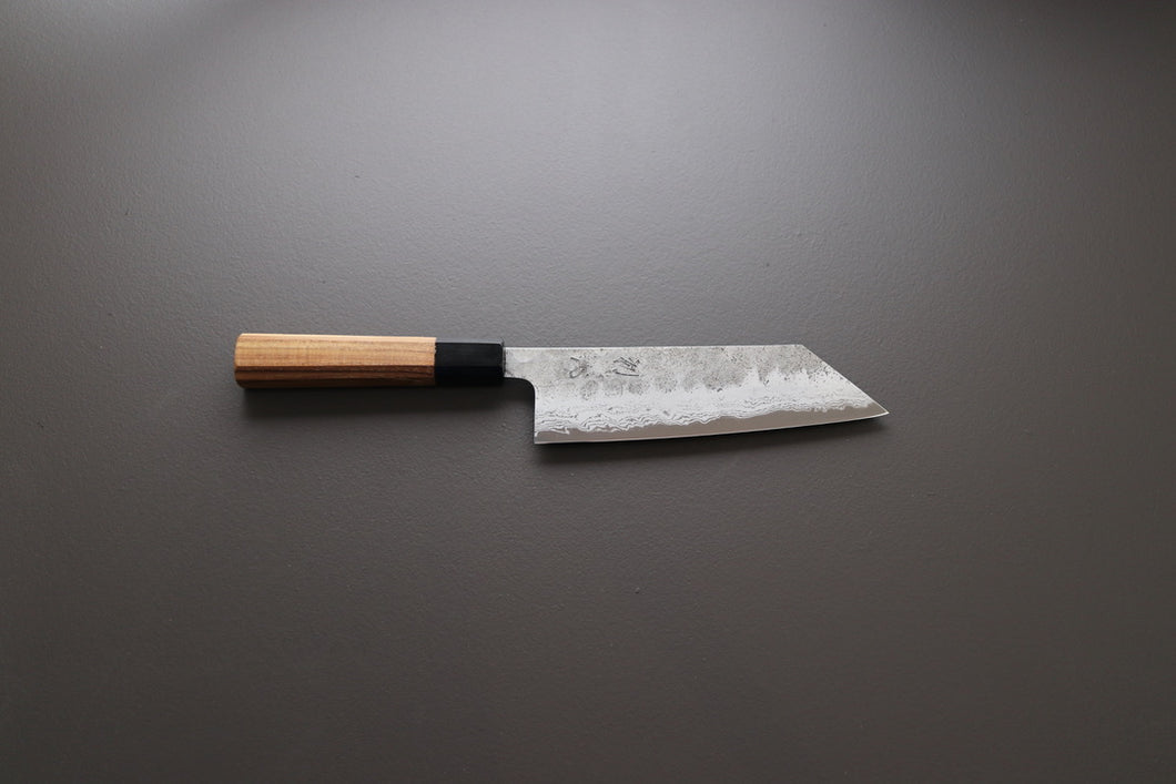 Hatsukokoro Inazuma AS Damascus Bunka 180mm - The Cook's Edge