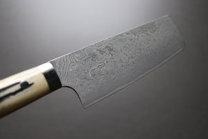 Takeshi Saji R2 Damascus Nakiri 170mm - The Cook's Edge