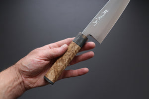 Sakai Takayuki SRS-15 Santoku 165mm custom handle - The Cook's Edge
