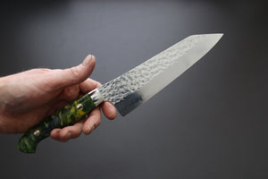 Yu Kurosaki Senko Santoku 165mm W/Custom Acrylic Handle - The Cook's Edge