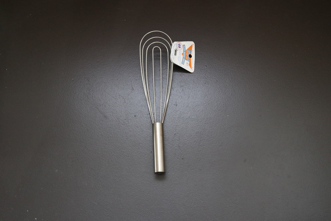 Best Stainless Steel Flat/Roux Whisk 12""