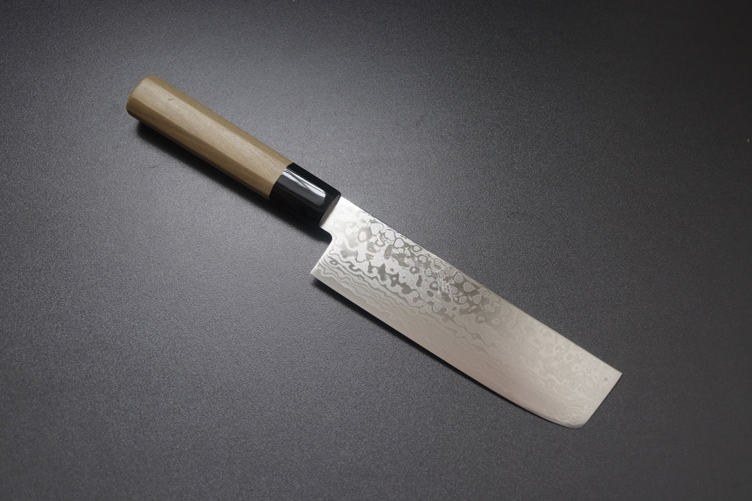 ZAD 69 layer damascus Nakiri 165mm - The Cook's Edge