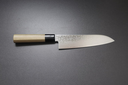 ZAD 69 layer damascus santoku 180mm - The Cook's Edge