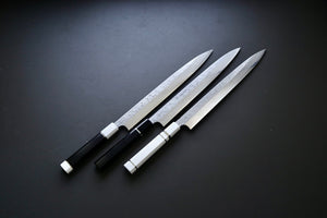 Yauji Yoshihiro Damascus Yanagiba 300mm - The Cook's Edge