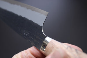 Nigara Hamono Kurouchi SG2 Gyuto 240mm w/Custom Birchwood Western Handle - The Cook's Edge