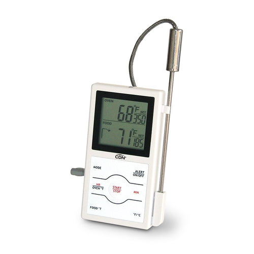 CDN Therm/Timer Digital Dual Sensing Probe White - The Cook's Edge