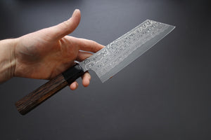 Nigara Hamono SG2 Damascus Bunka 180mm - The Cook's Edge