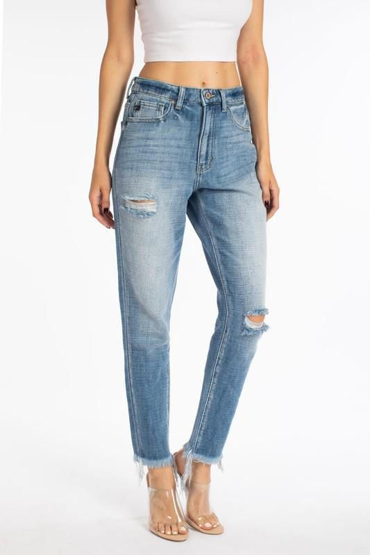 The Asher High Rise Mom Jeans
