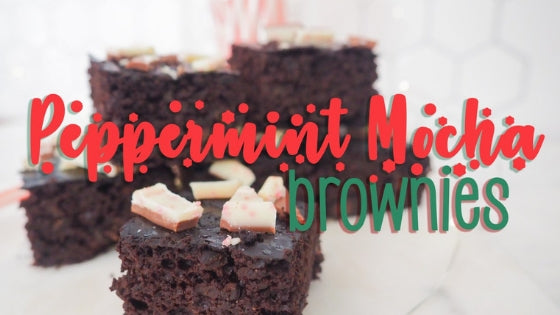 Peppermint Mocha Black Bean Brownies Using Instant Coffee