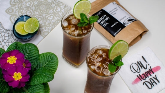 Refreshing Instant Sparkling Mint Lime Iced Tea