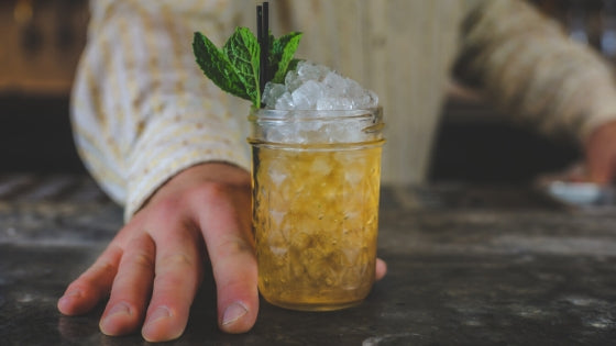 Mint Julep Cocktail Using Instant Tea