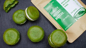 how to make instant matcha powder macaron recipe