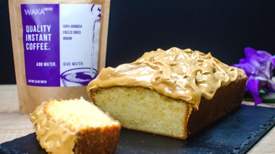 Vanilla Pound Cake With Whipped Coffee Icing Recipe