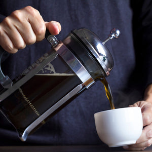 How do you make coffee with a French press?