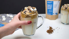 S'mores Whipped Coffee Dalgona Style