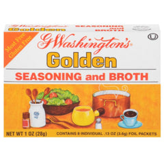 While the instant coffee brand was discontinued by 1961, Washington's name is still used today in the product G. Washington's Seasoning & Broth.