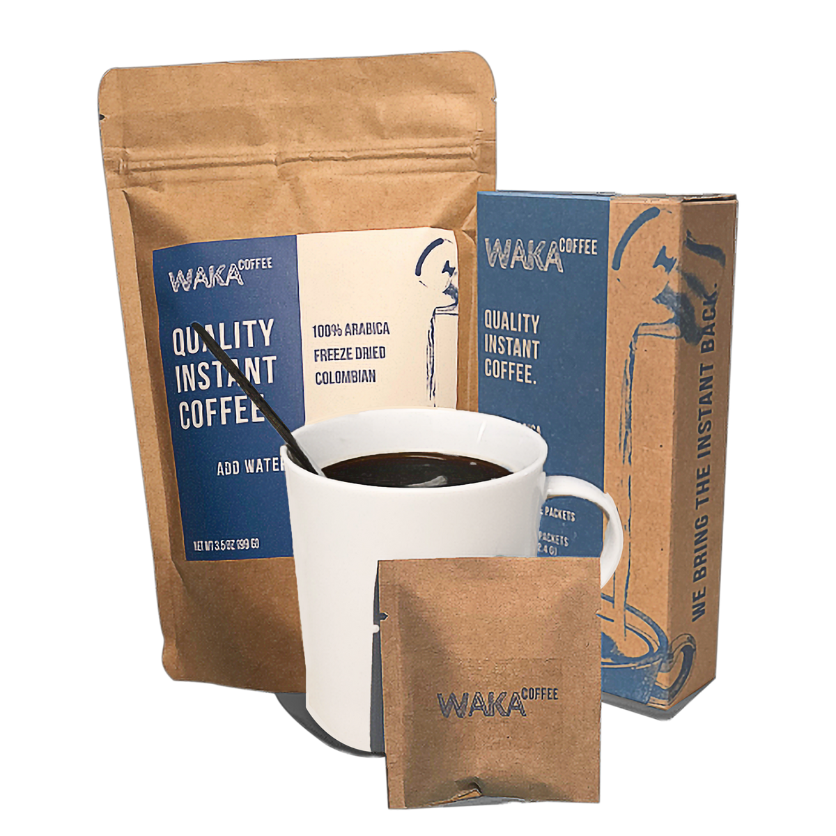 Waka Coffee is the best tasting instant coffee