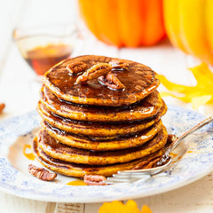 delicious pancakes with coffee flour