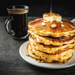 how to make caffeinated pancakes using instant coffee