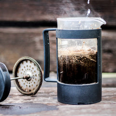 make-french-press-coffee-while-camping-backpacking