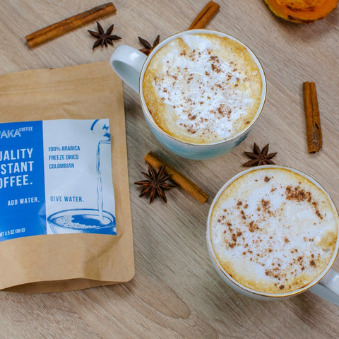 the best way for making pumpkin latte instantly