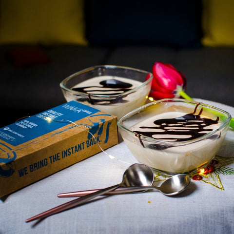how to make panna cotta with instant coffee