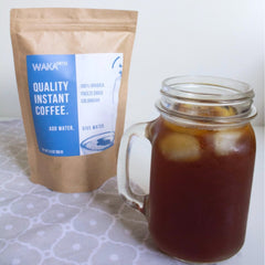 ice coffee with waka instant coffee
