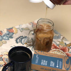 instant iced coffee packets unsweetened