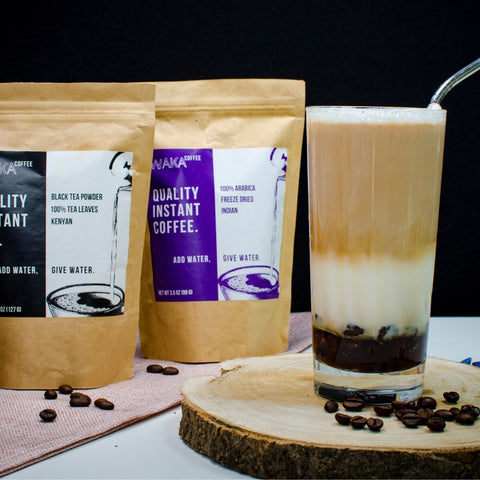 make a great boba tea milk with instant coffee
