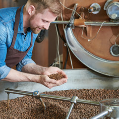 How does a drum coffee roaster work?