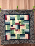 Rail Fence and Butterflies Quilt