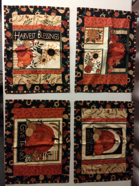 Give Thanks Sashed Placemats (4)
