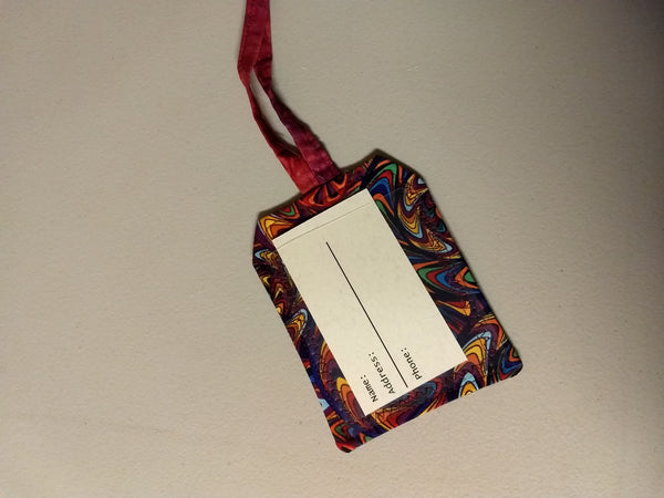 Fabric Luggage Tag Marbled