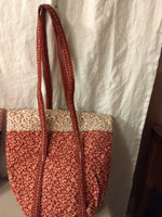Small Handled Purse Red/White