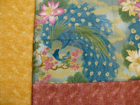 Peacock Metallic Quilt Kit 26 X 26