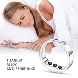 Anti Snore Ring Magnetic Therapy Acupressure Treatment Snore Stopper Finger Ring
