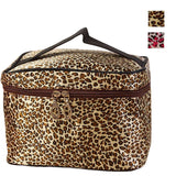 Leopard Print Cosmetic Bags Organizer Women Travel Makeup Bag