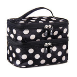 Makeup Organizer Double Layer Storage Box 8-Color Cosmetic Bag